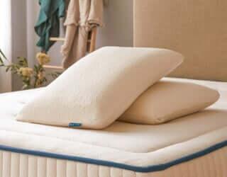 page produit oreiller latex